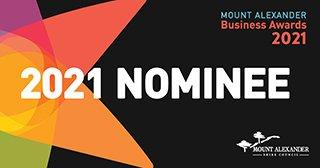 2021 nominee logo for Mount Alexander Business Awards